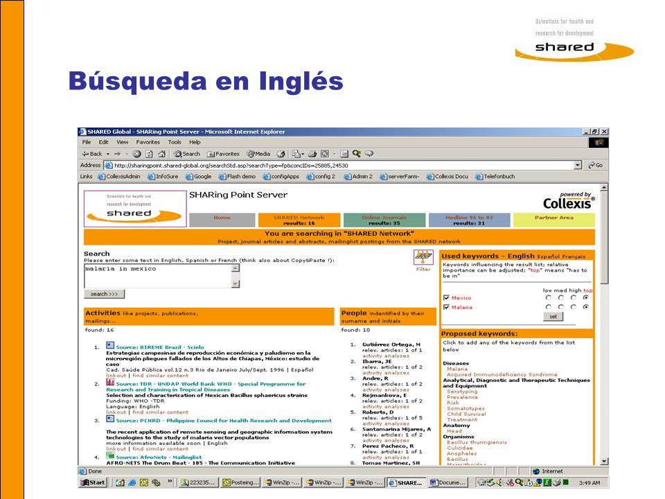 Búsqueda en Inglés Agnes Soares