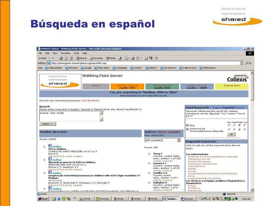 Búsqueda en español Agnes Soares