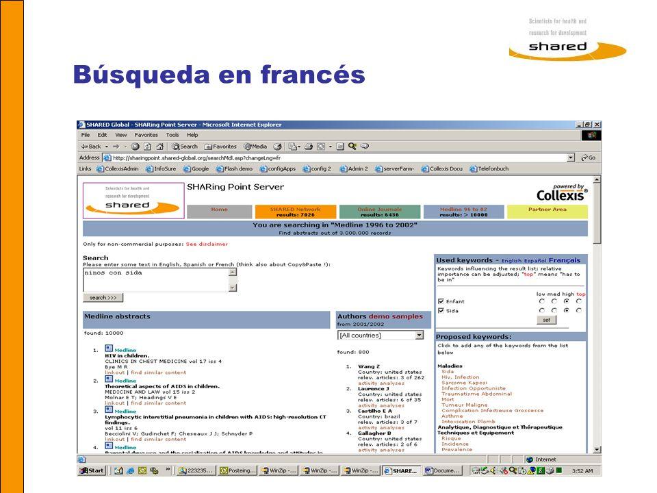 Búsqueda en francés Agnes Soares