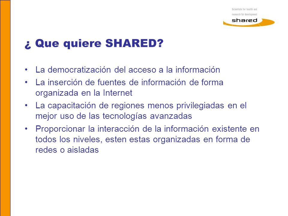 ¿ Que quiere SHARED La democratización del acceso a la información