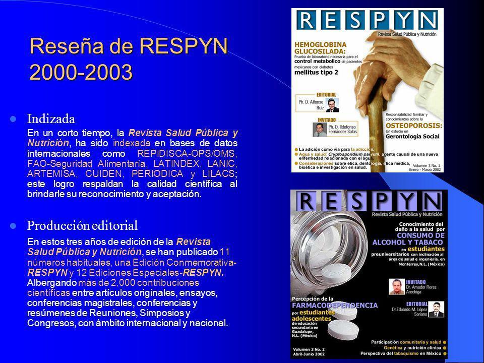Reseña de RESPYN 2000-2003 Indizada Producción editorial