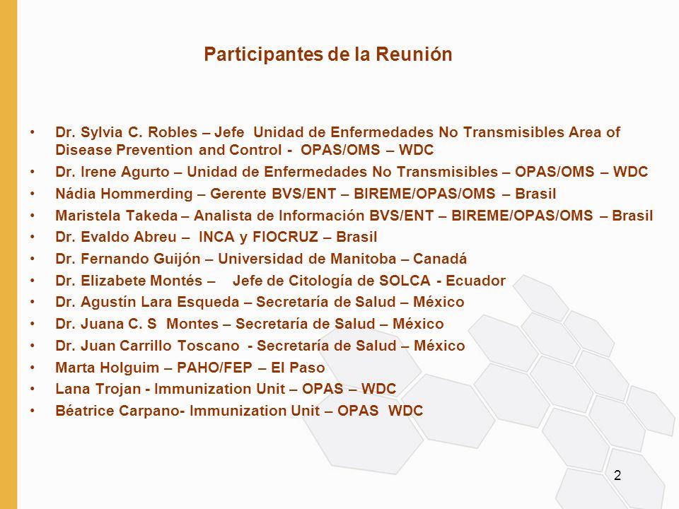 Participantes de la Reunión