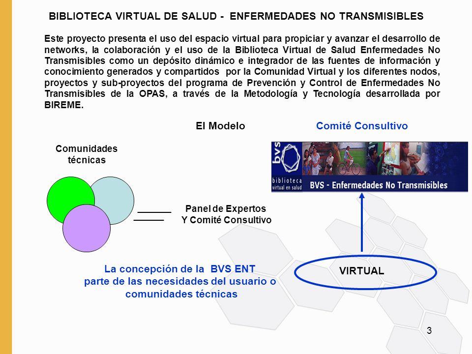 BIBLIOTECA VIRTUAL DE SALUD - ENFERMEDADES NO TRANSMISIBLES