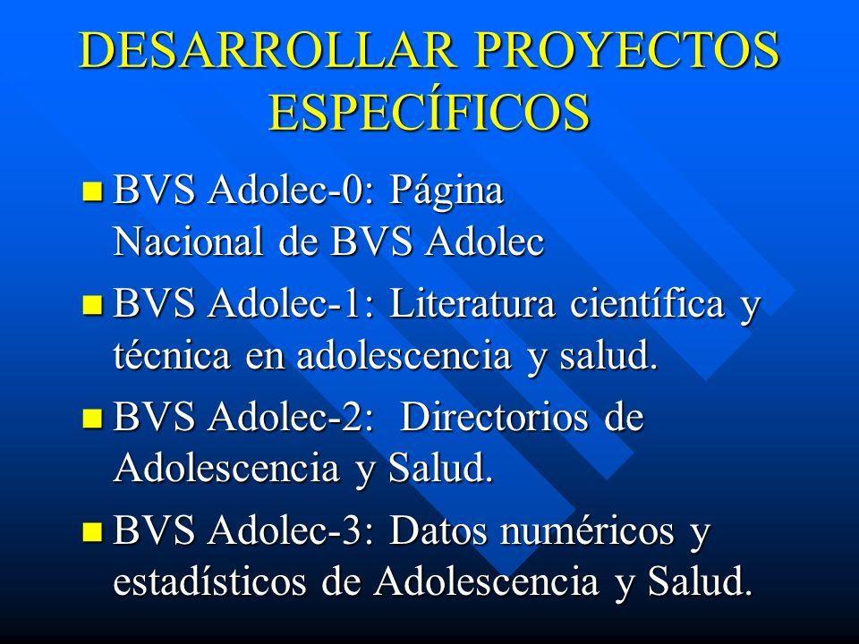 DESARROLLAR PROYECTOS ESPECÍFICOS