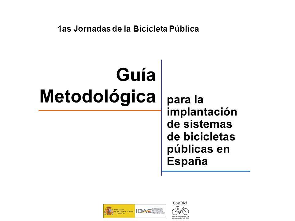 para la implantación de sistemas de bicicletas públicas en España