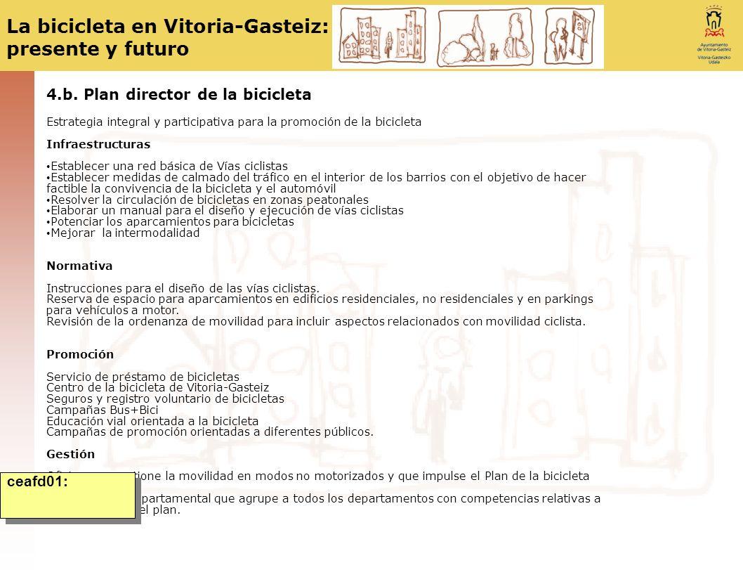 4.b. Plan director de la bicicleta