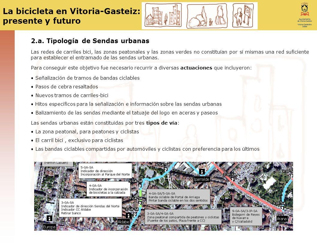 2.a. Tipología de Sendas urbanas