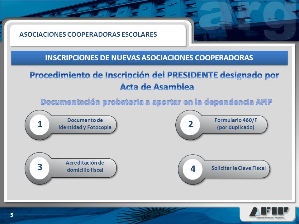INSCRIPCIONES DE NUEVAS ASOCIACIONES COOPERADORAS