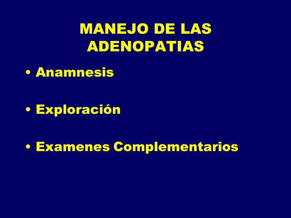 MANEJO DE LAS ADENOPATIAS