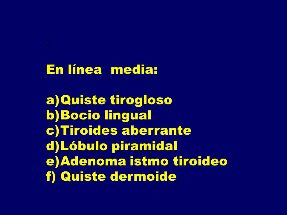 Adenoma istmo tiroideo Quiste dermoide
