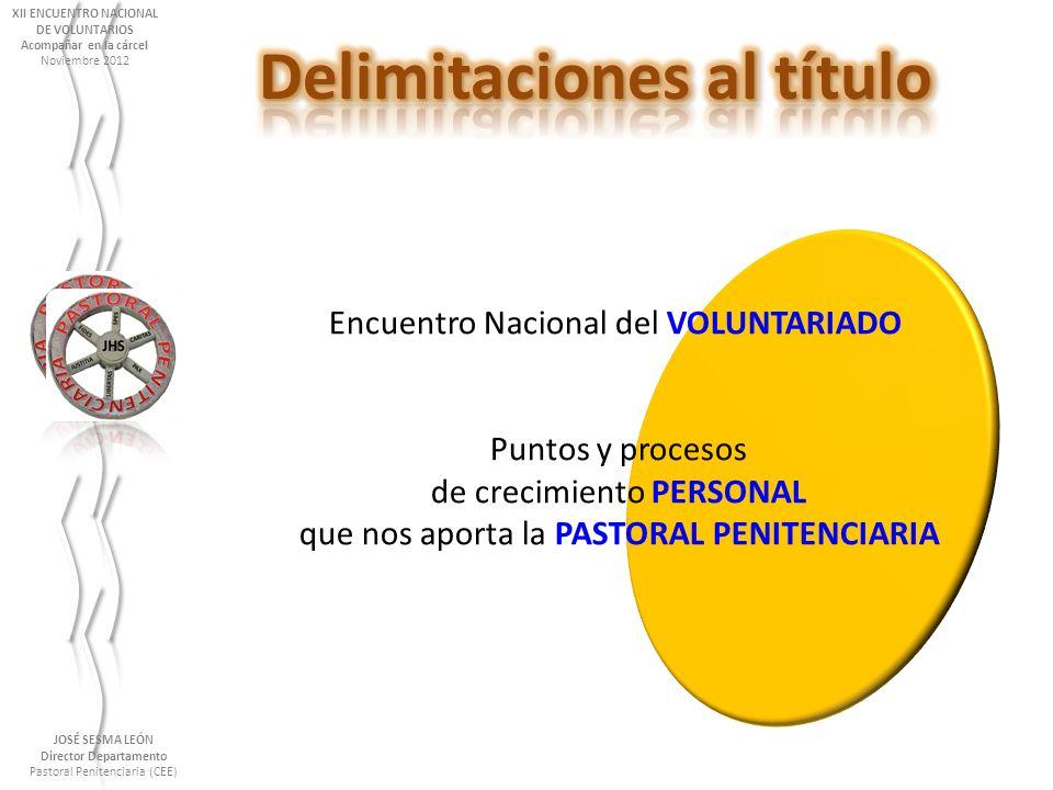 XII ENCUENTRO NACIONAL Delimitaciones al título Director Departamento