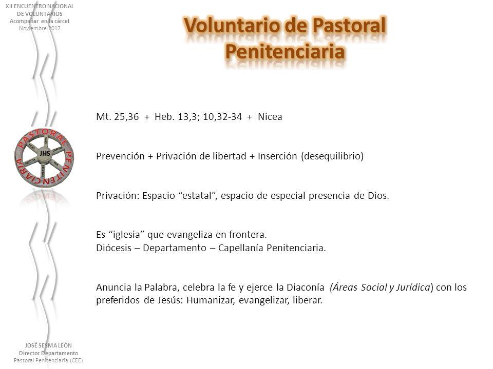 XII ENCUENTRO NACIONAL Voluntario de Pastoral Director Departamento