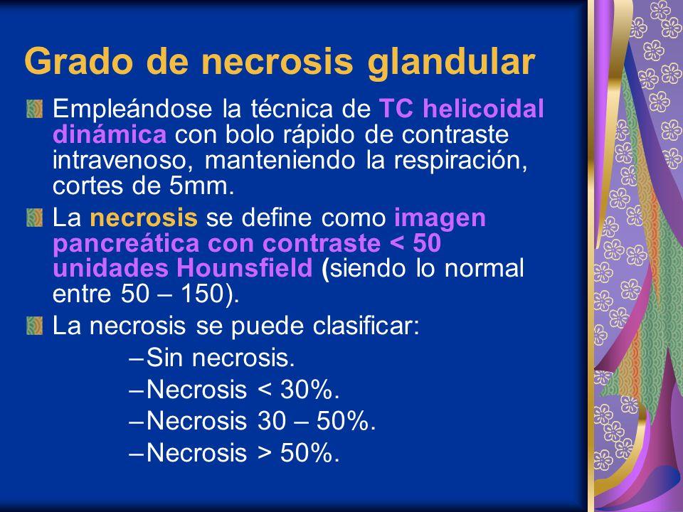 Grado de necrosis glandular