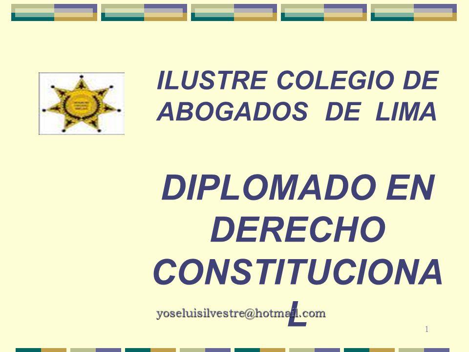 ILUSTRE COLEGIO DE ABOGADOS de lima Diplomado en derecho constitucional