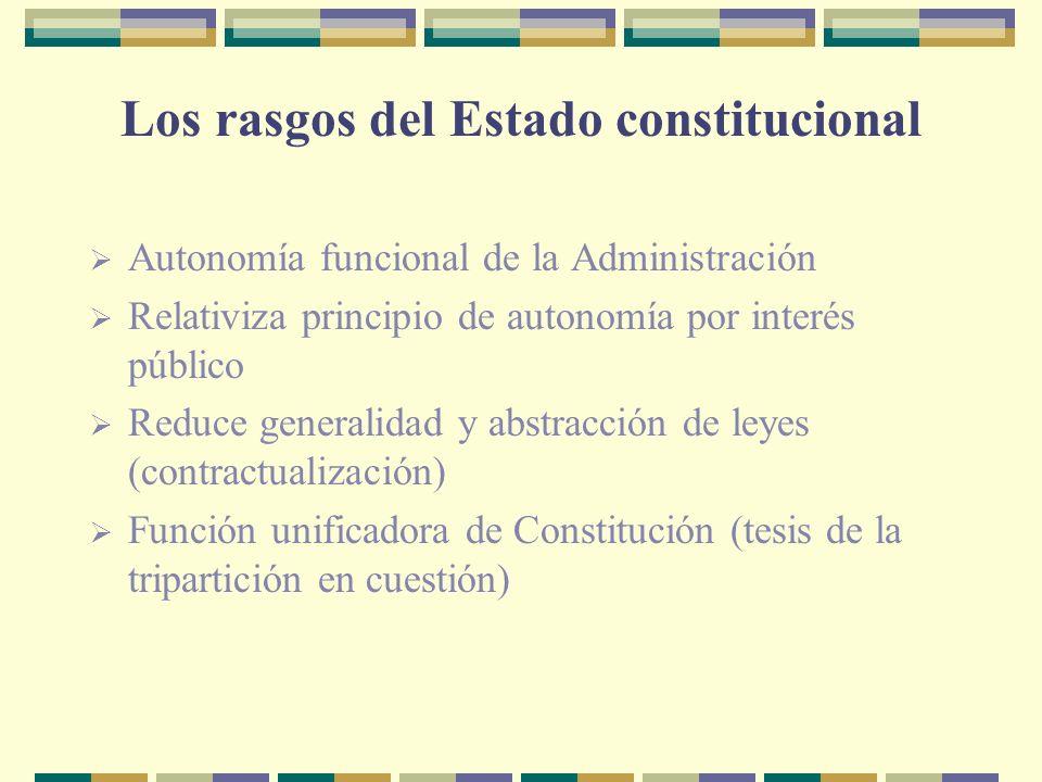 Los rasgos del Estado constitucional
