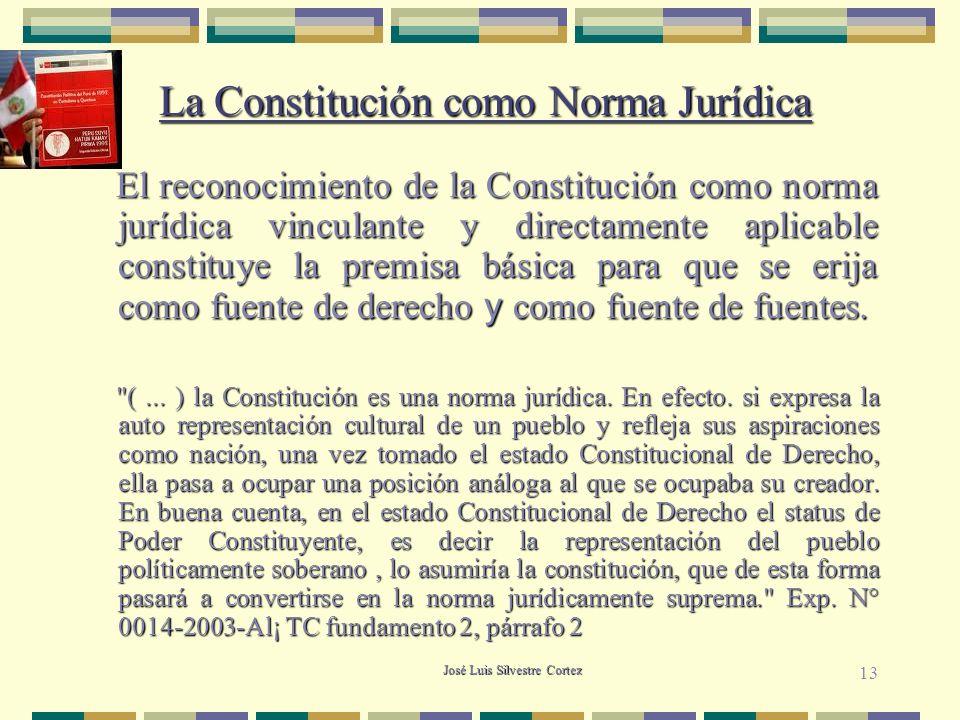 La Constitución como Norma Jurídica