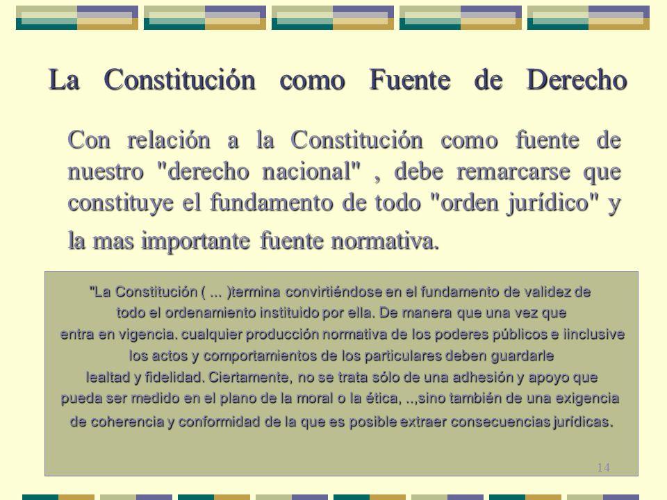 La Constitución como Fuente de Derecho