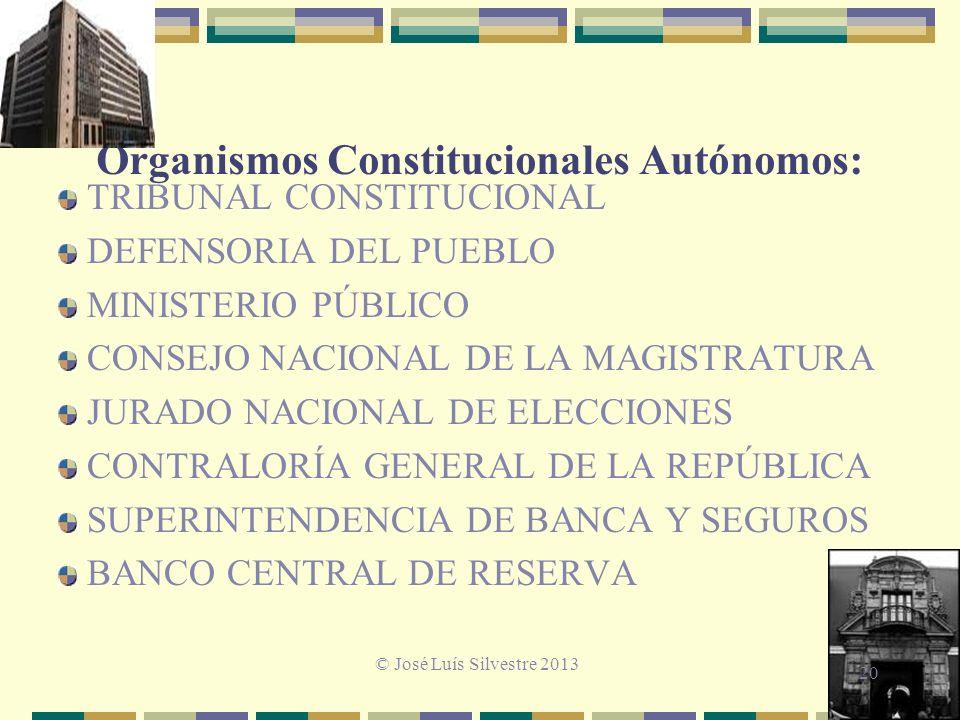 Organismos Constitucionales Autónomos: