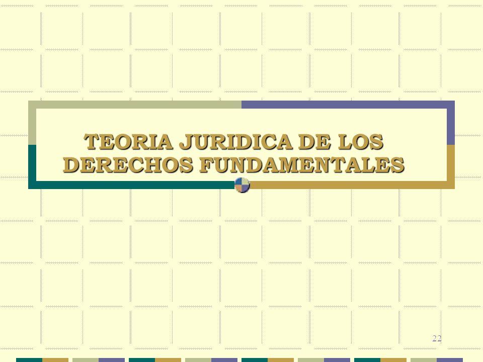 TEORIA JURIDICA DE LOS DERECHOS FUNDAMENTALES