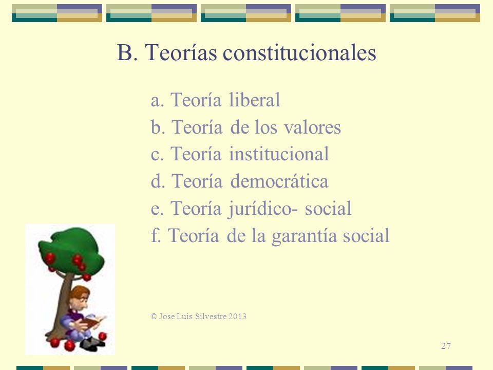 B. Teorías constitucionales