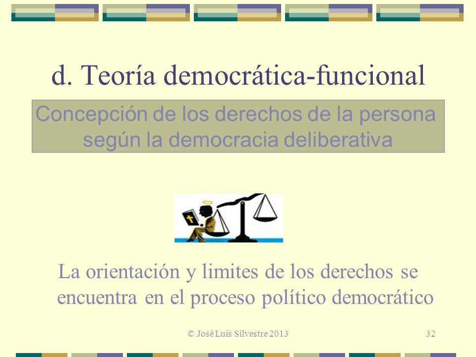 d. Teoría democrática-funcional