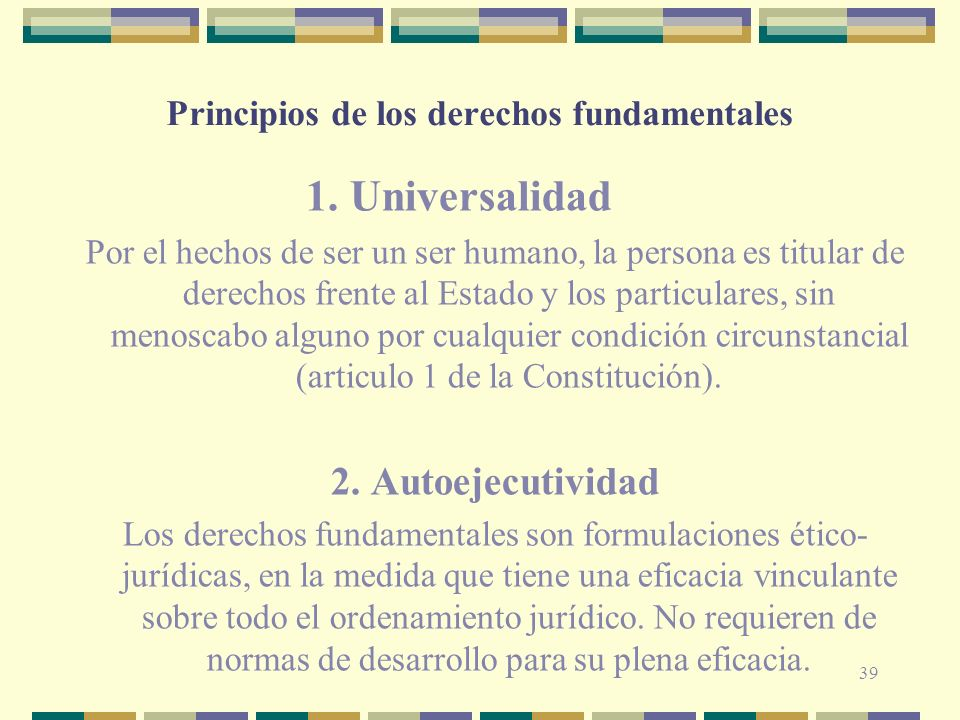 Principios de los derechos fundamentales