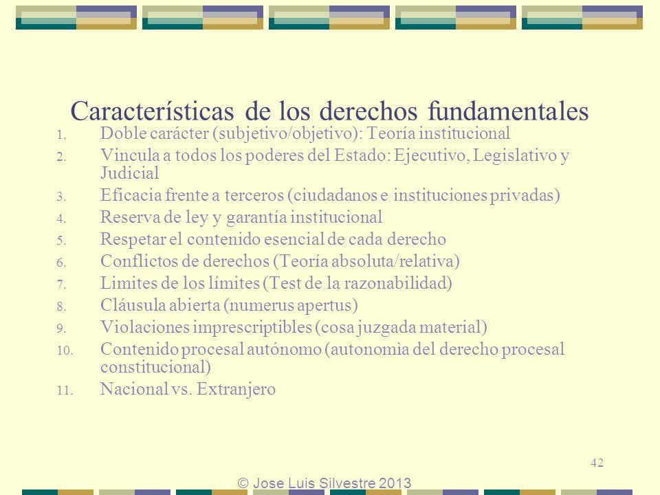 Características de los derechos fundamentales