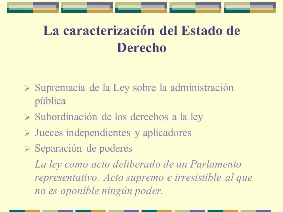 La caracterización del Estado de Derecho