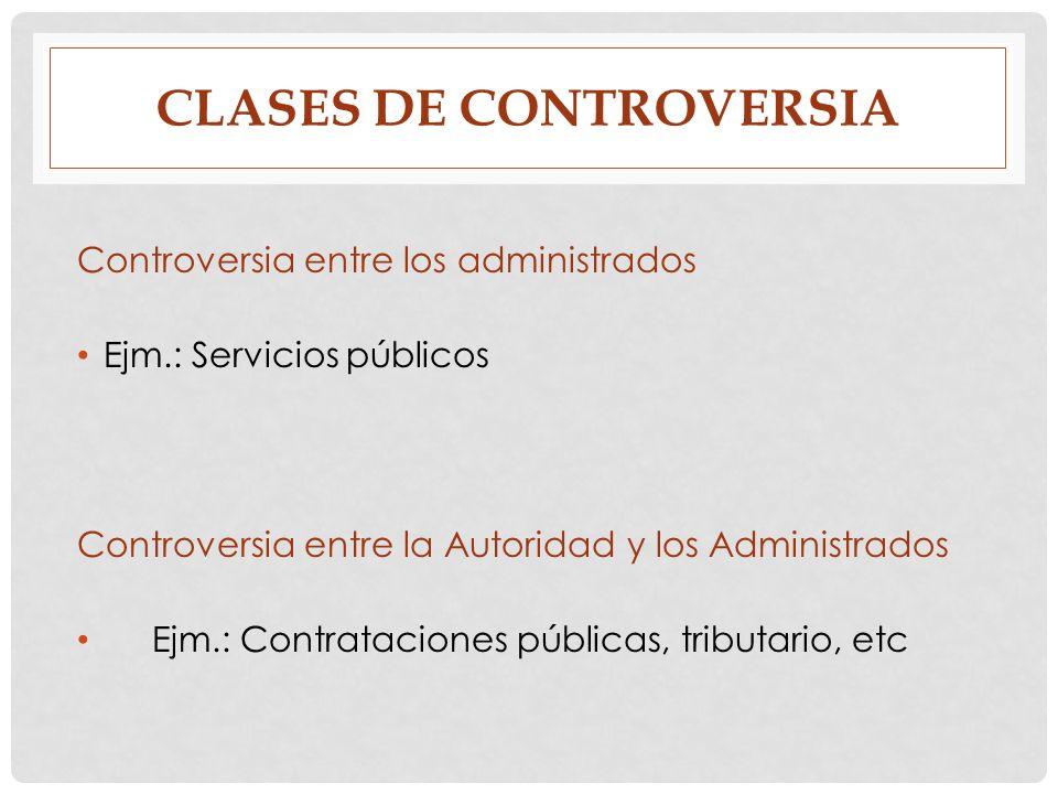 clases de controversia