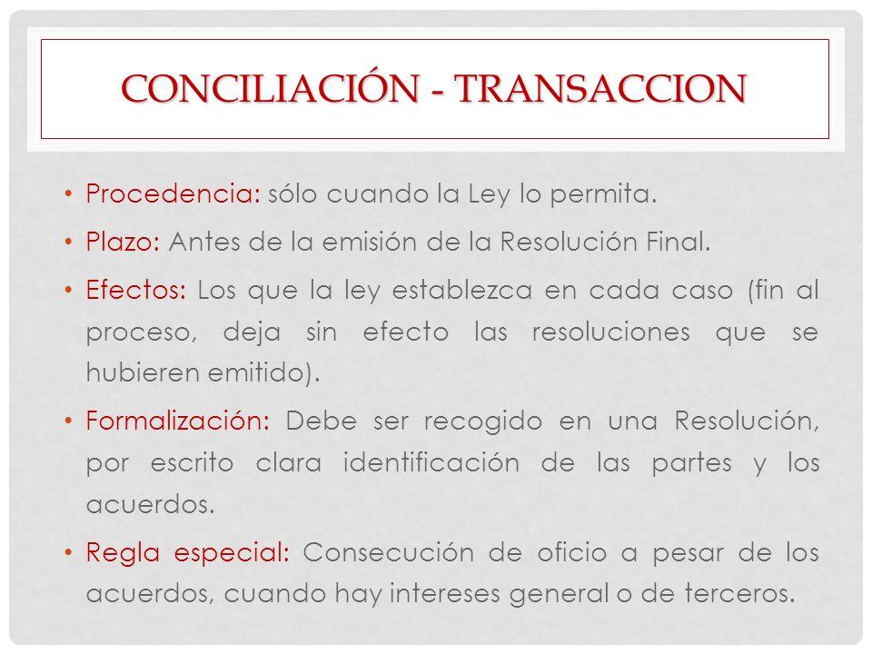 Conciliación - transaccion