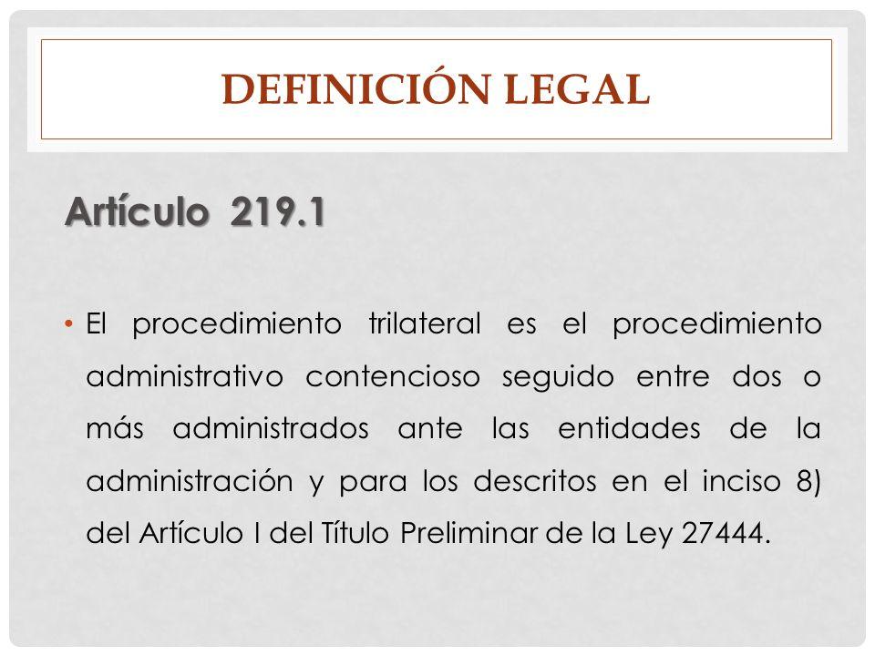 Definición legal Artículo 219.1