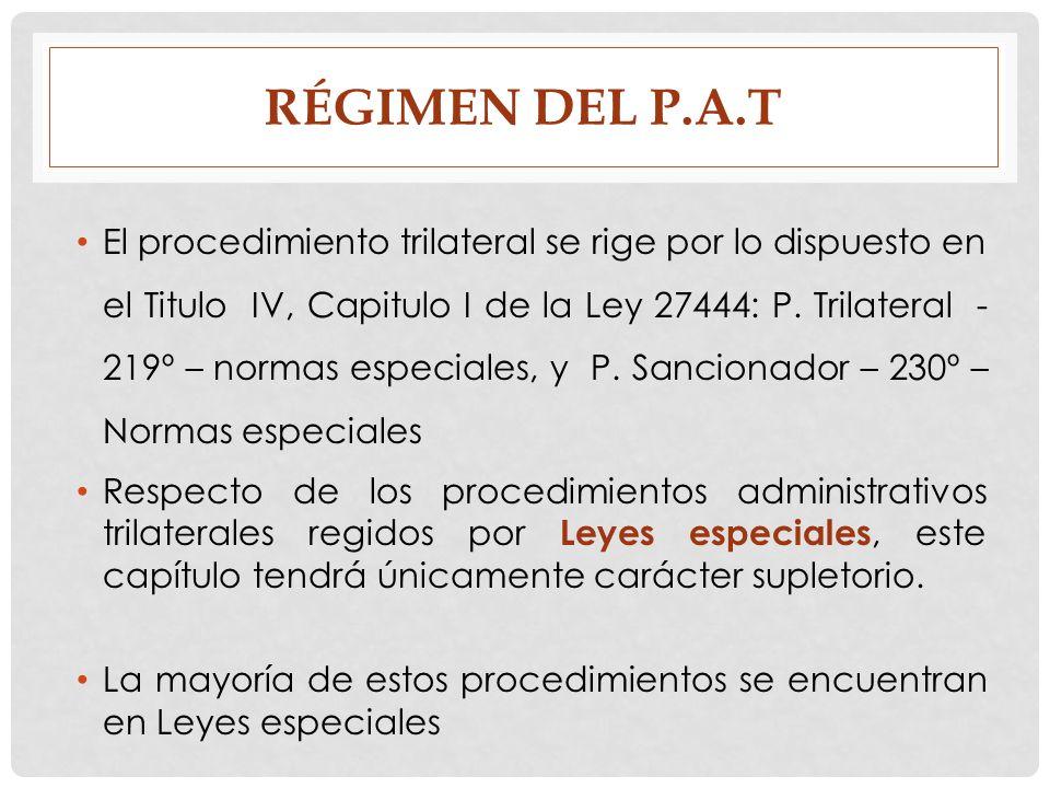 Régimen del p.a.t