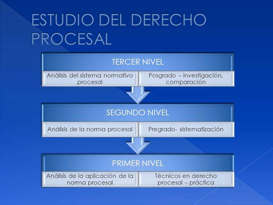 ESTUDIO DEL DERECHO PROCESAL