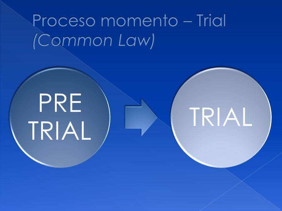 Proceso momento – Trial (Common Law)