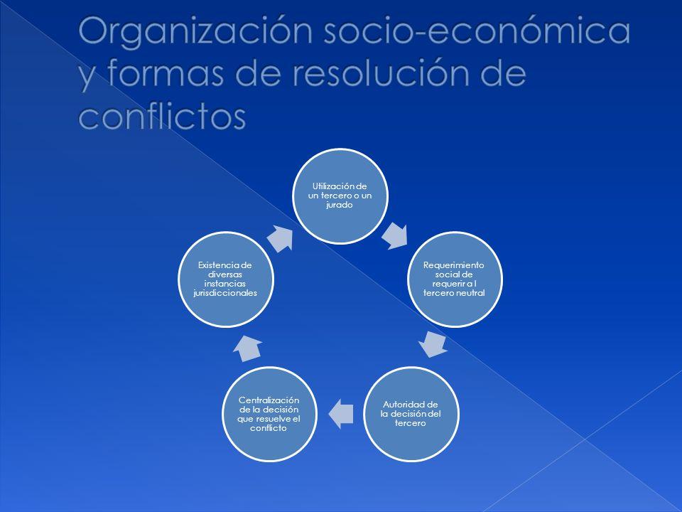 Organización socio-económica y formas de resolución de conflictos