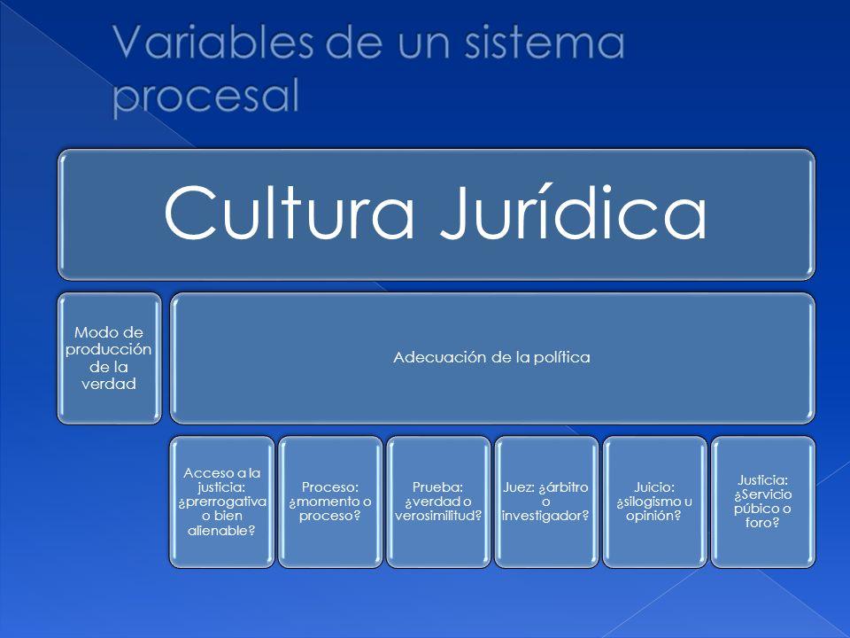 Variables de un sistema procesal