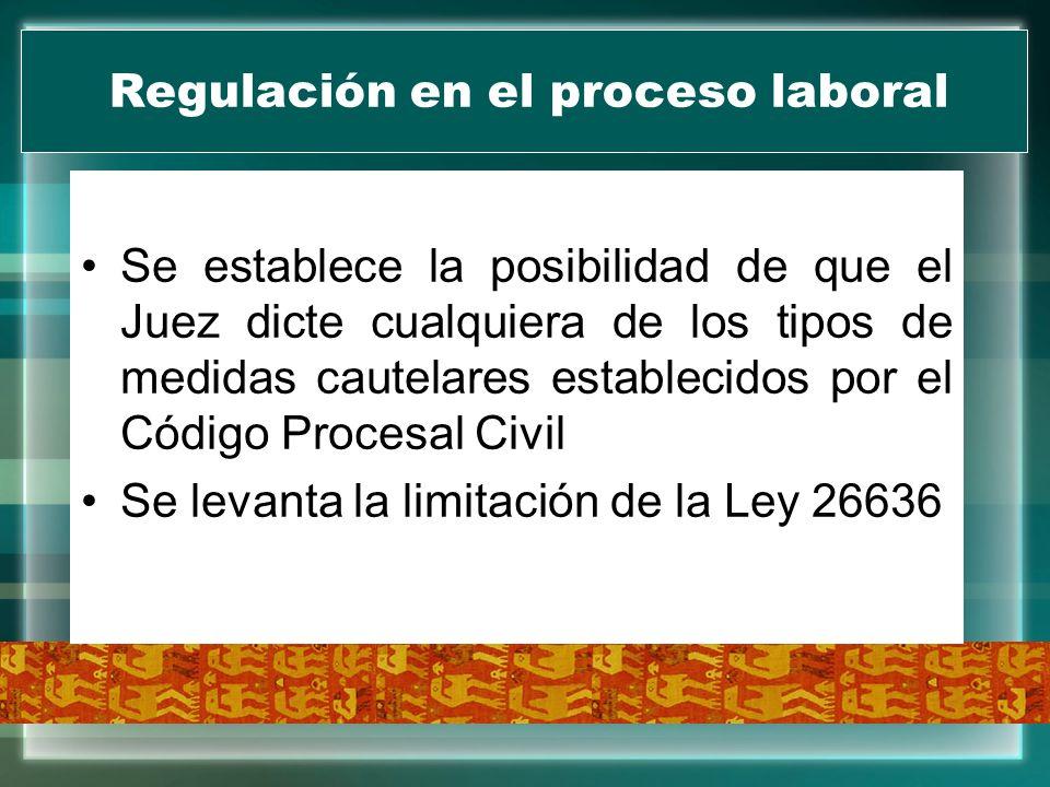 Regulación en el proceso laboral