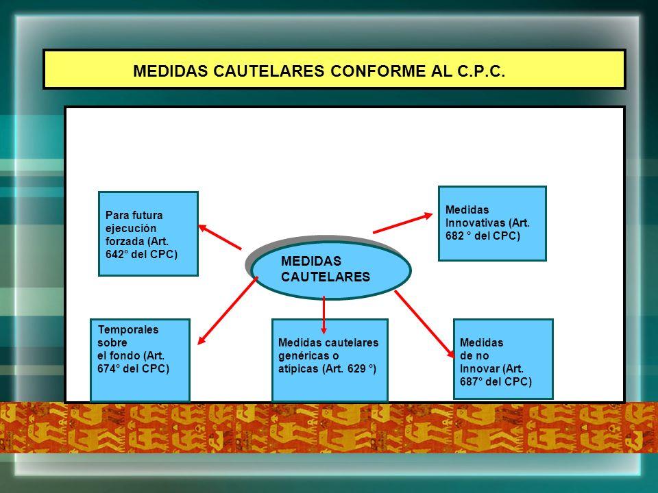 MEDIDAS CAUTELARES CONFORME AL C.P.C.