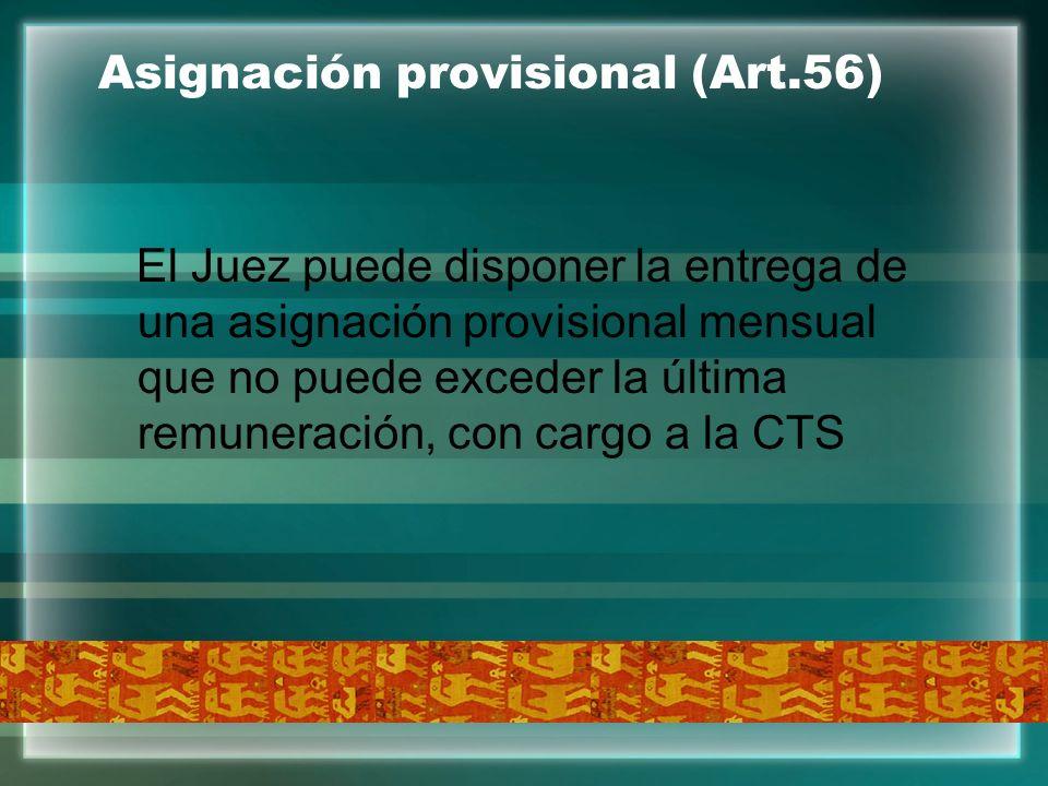Asignación provisional (Art.56)