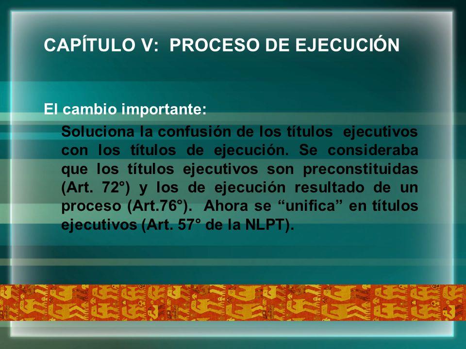 CAPÍTULO V: PROCESO DE EJECUCIÓN