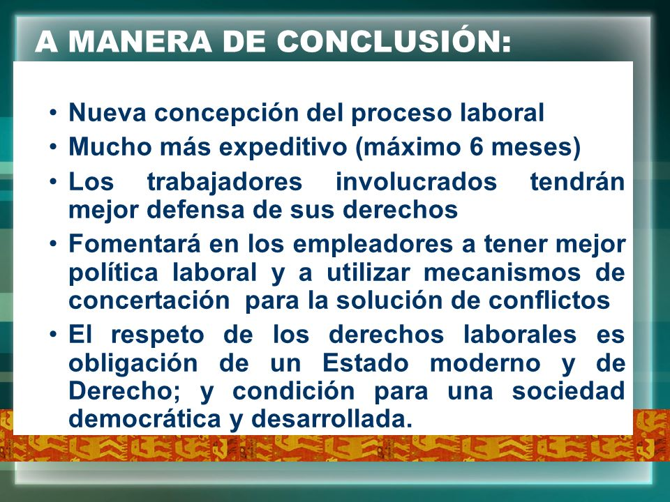 A MANERA DE CONCLUSIÓN: