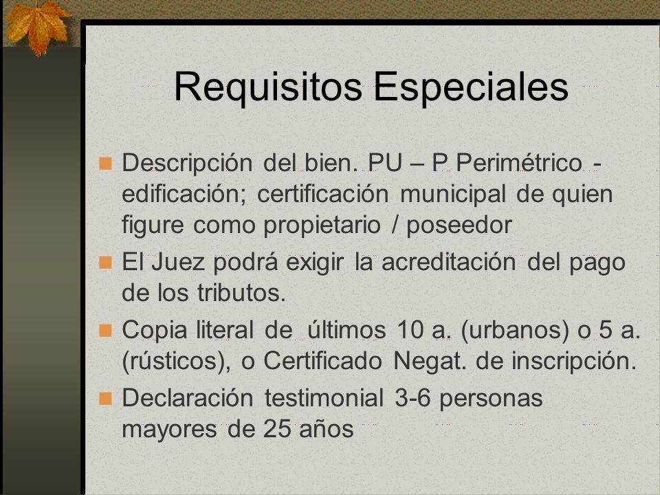 Requisitos Especiales