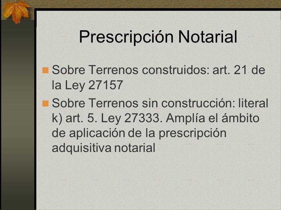 Prescripción Notarial