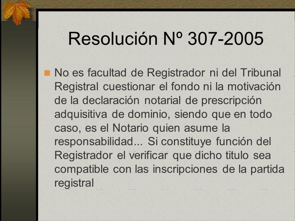 Resolución Nº 307-2005