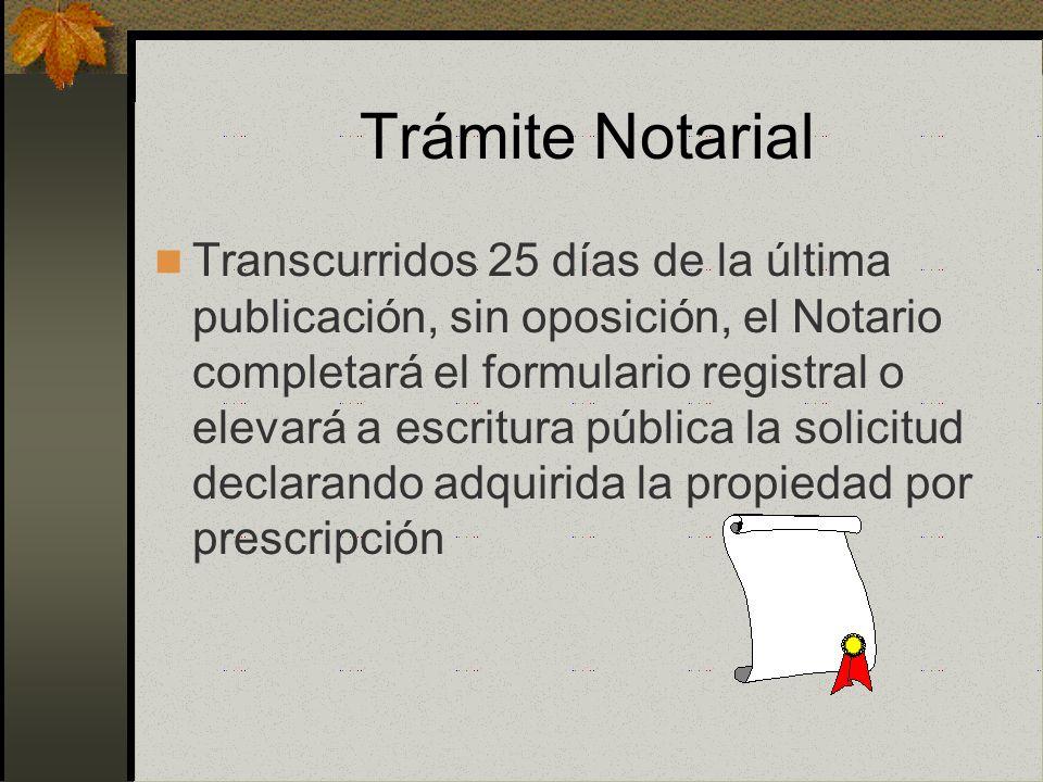 Trámite Notarial