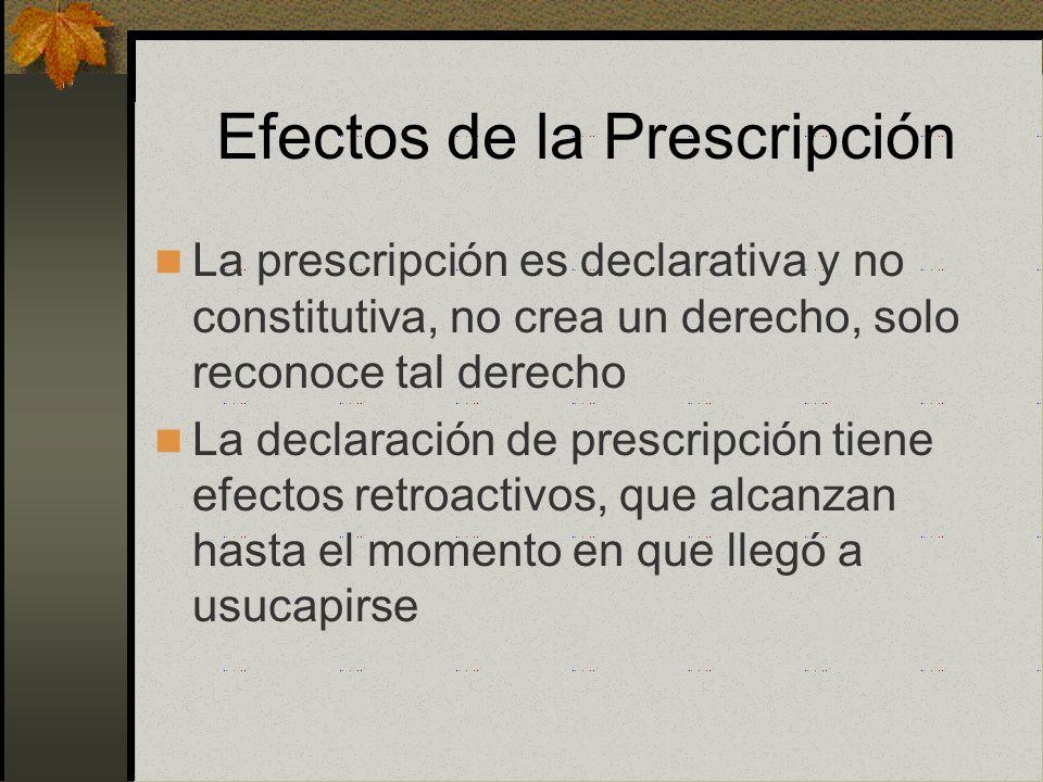 Efectos de la Prescripción