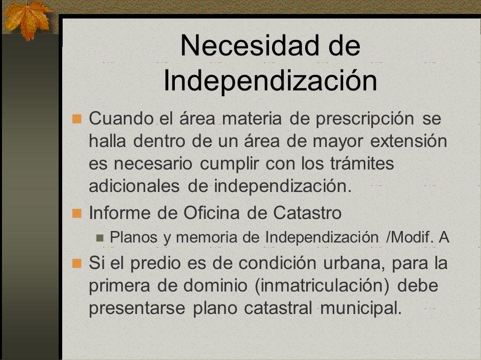 Necesidad de Independización