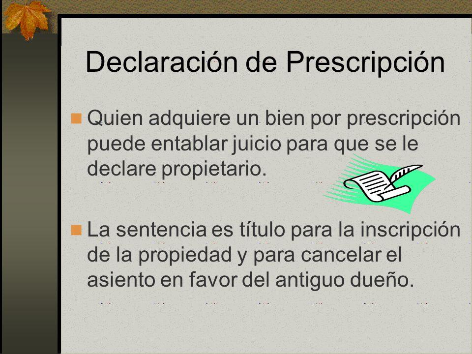 Declaración de Prescripción