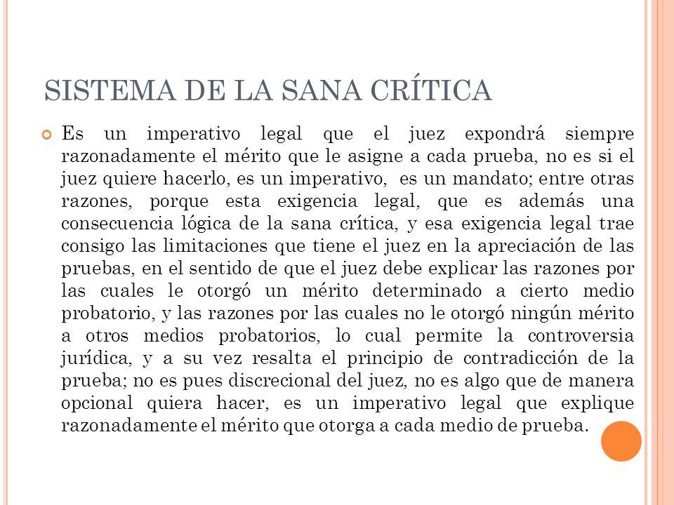 SISTEMA DE LA SANA CRÍTICA