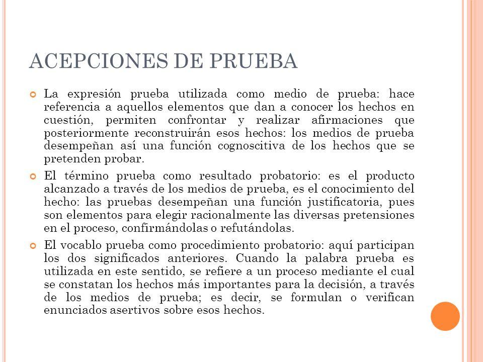 ACEPCIONES DE PRUEBA
